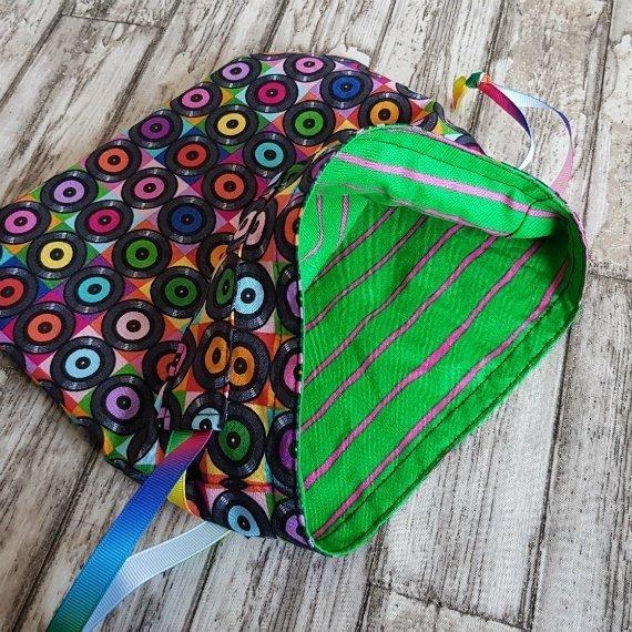 Vinyl Records Eco-Friendly Reusable Drawstring Gift Bag Storage Bag Kind Shop 7