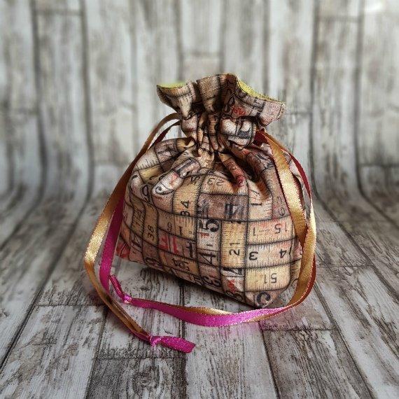 Vintage Rulers Eco-Friendly Reusable Drawstring Gift Bag Storage Bag 1 Kind Shop