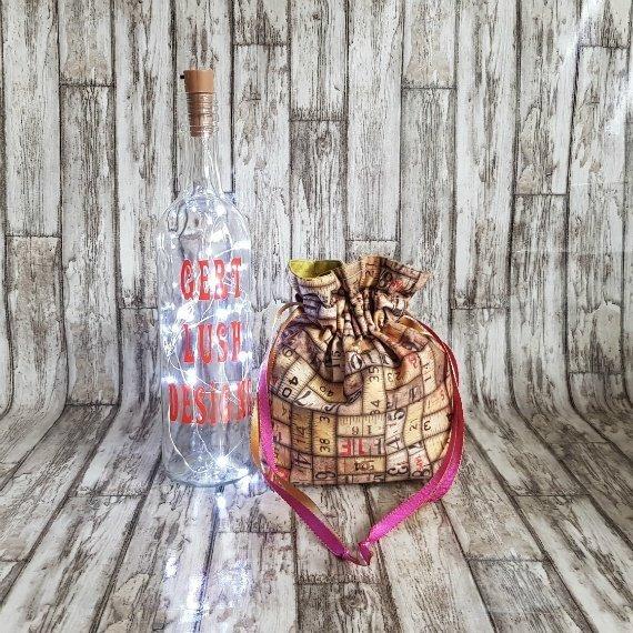Vintage Rulers Eco-Friendly Reusable Drawstring Gift Bag Storage Bag 1 Kind Shop 3