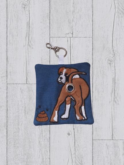 Boxer Eco Plastic Free Dog Poo Bag Holder – Brown & White Kind Shop