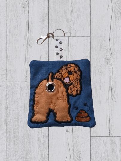 Cocker Spaniel Eco Plastic Free Dog Poo Bag Holder – tan Kind Shop