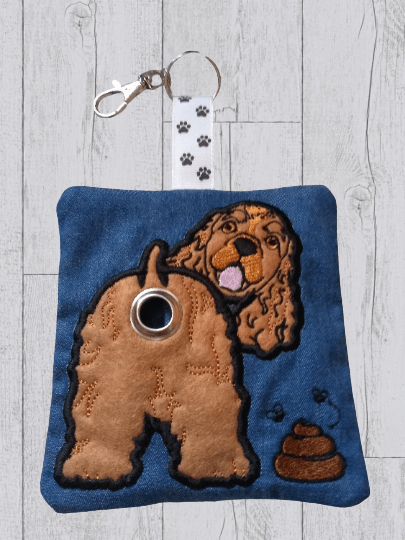 Cocker Spaniel Eco Plastic Free Dog Poo Bag Holder – tan Kind Shop 2
