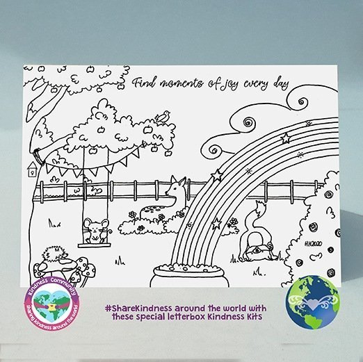 colouring greeting card find moments of joy kindpreneurs
