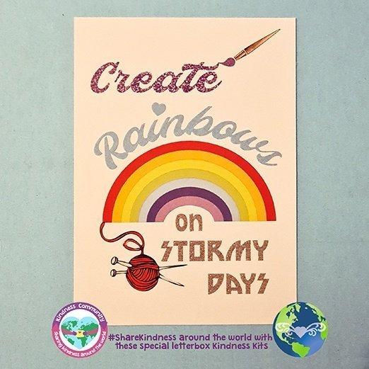 create rainbows on stormy days art card kindpreneurs