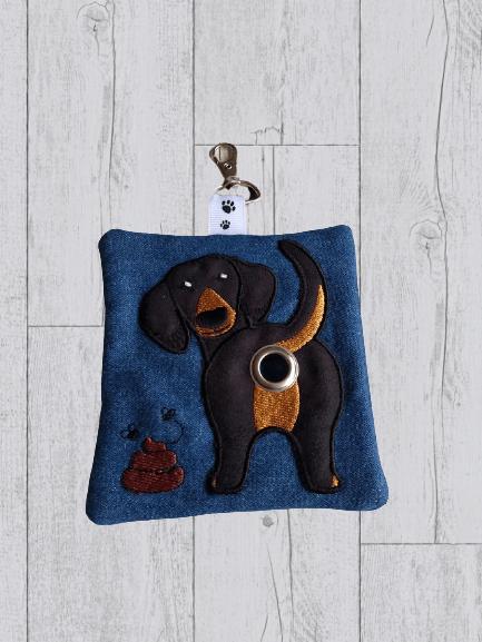 Dachshund Eco Plastic Free Dog Poo Bag Holder – Black & Tan Kind Shop 2