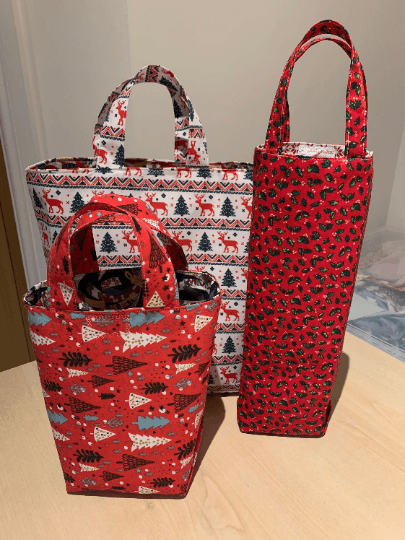 Fabric Gift Bag Set