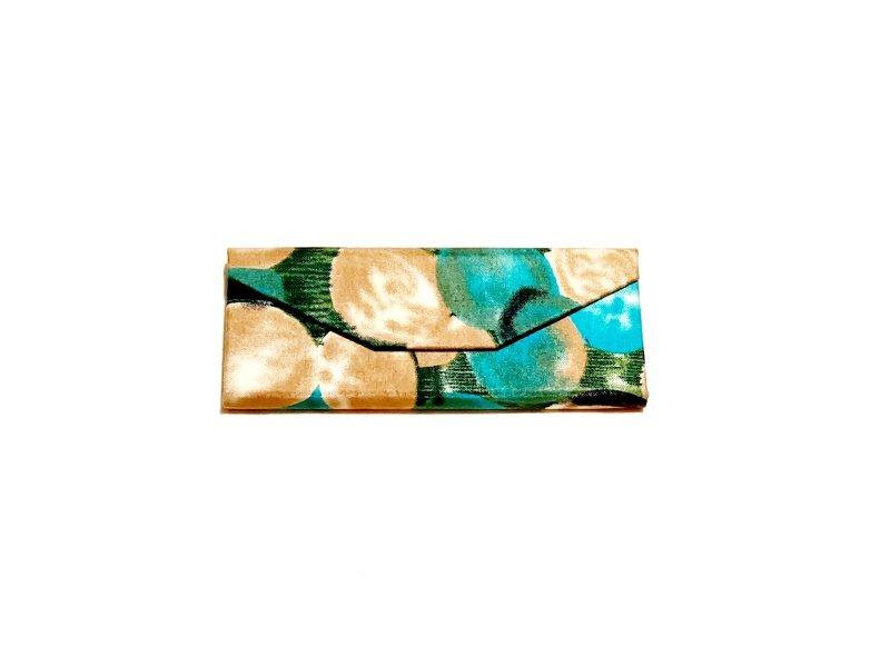 Green & gold batik glasses case Kind Shop