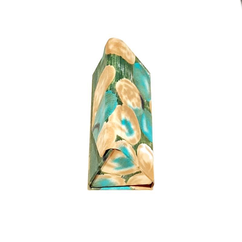 Green & gold batik glasses case Kind Shop 2