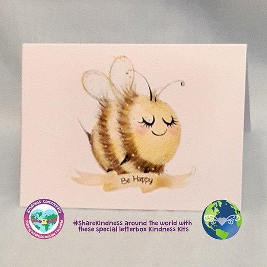 greeting card bee happy kindpreneurs