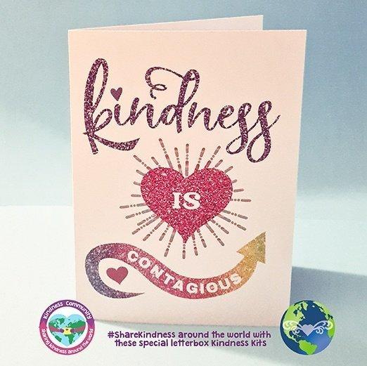 kindness is contagious card kindpreneurs