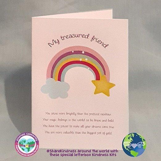 my treasured friend rainbow card kindpreneurs