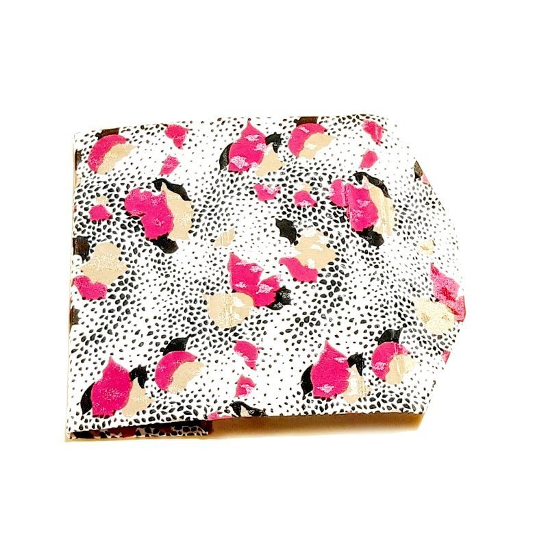 Pink & white silk zero waste glasses case Kind Shop 4