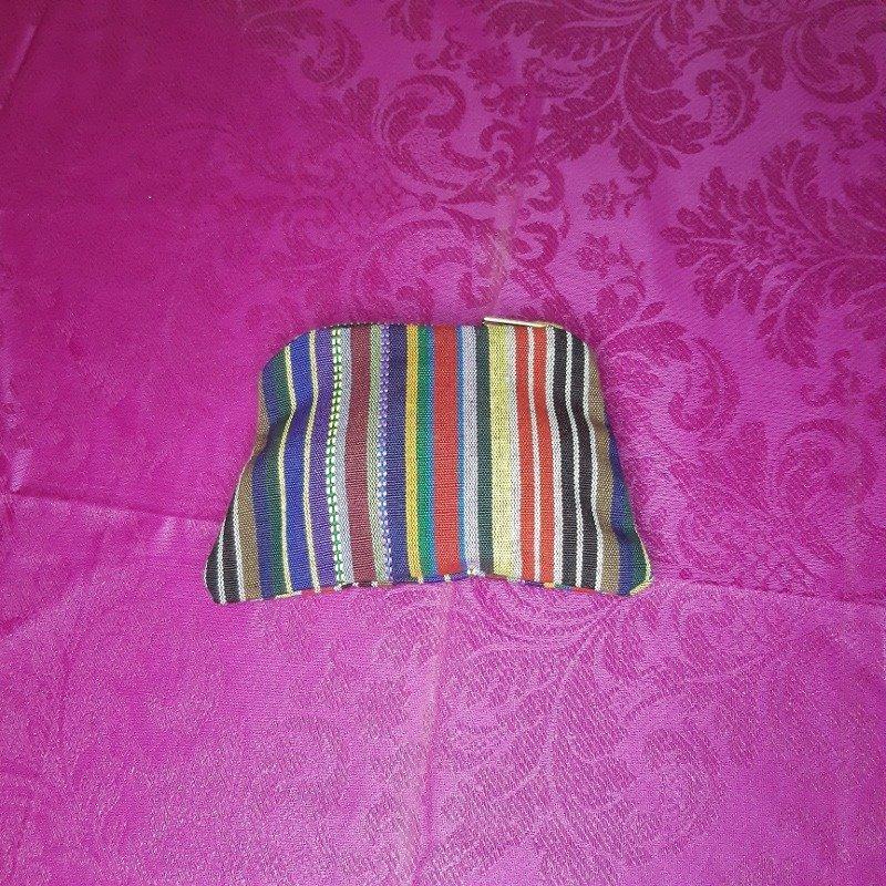 Multi coloured stripe purse Kind Shop
