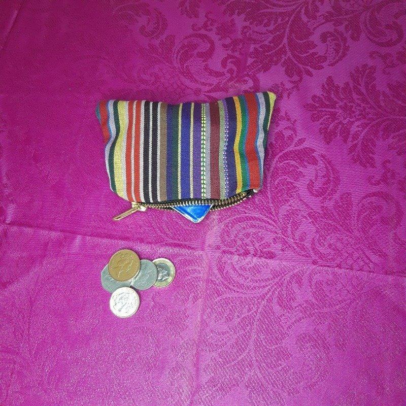 Multi coloured stripe purse Kind Shop 2