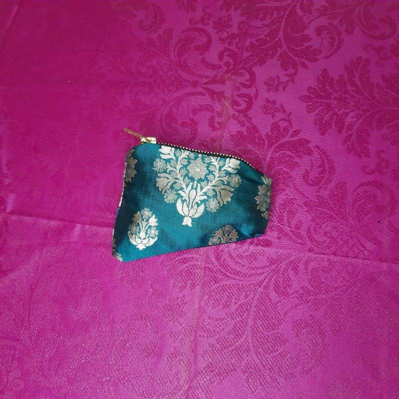 Turquoise silk purse Kind Shop