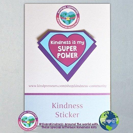 sticker kindness is my superpower kindpreneurs