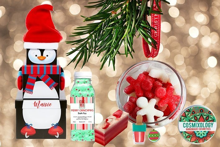 Personalised Penguin Festive Stack Gift Box Kind Shop