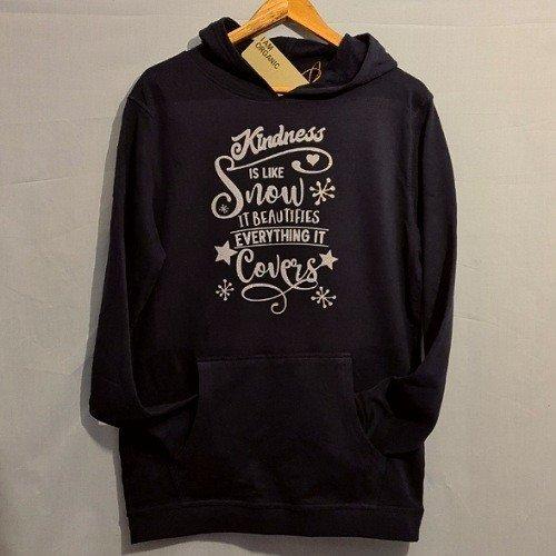 Kindness is like snow hoodie. Organic Cotton, Vegan