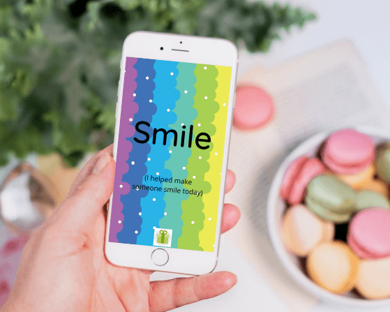 The Smile Parcel Phone Wallpaper inspirational