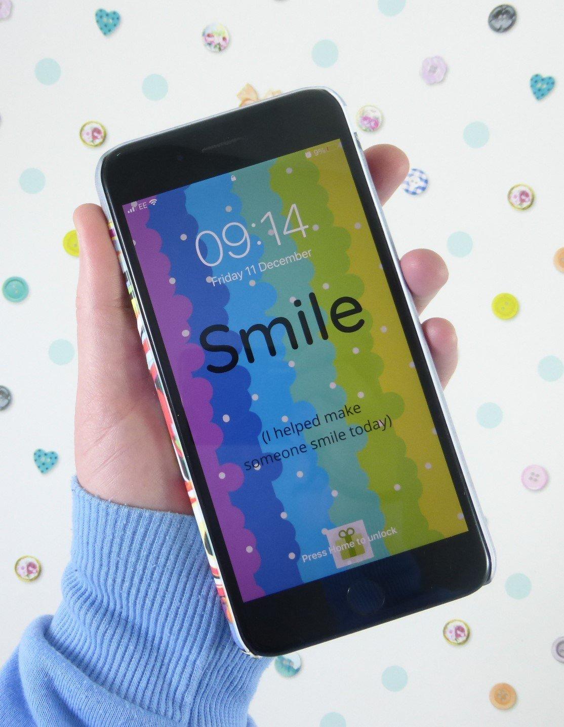 Smile Phone Wallpaper, Rainbow iPhone Background, The Smile Parcel Supporter, Rainbow Art, Smile Design Kind Shop 3