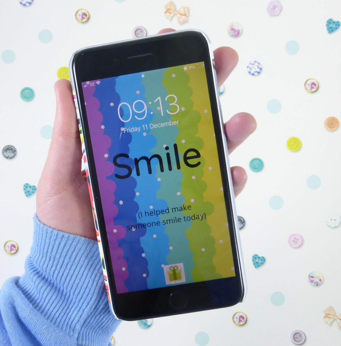 Smile Phone Wallpaper, Rainbow iPhone Background, The Smile Parcel Supporter, Rainbow Art, Smile Design Kind Shop 2