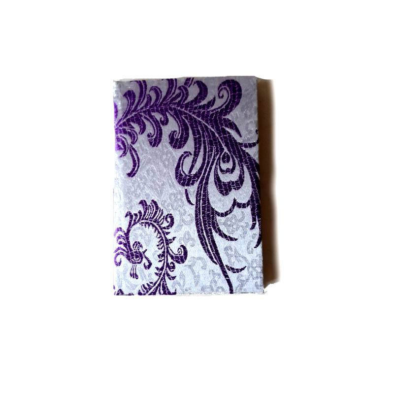 A5 purple silk notebook front