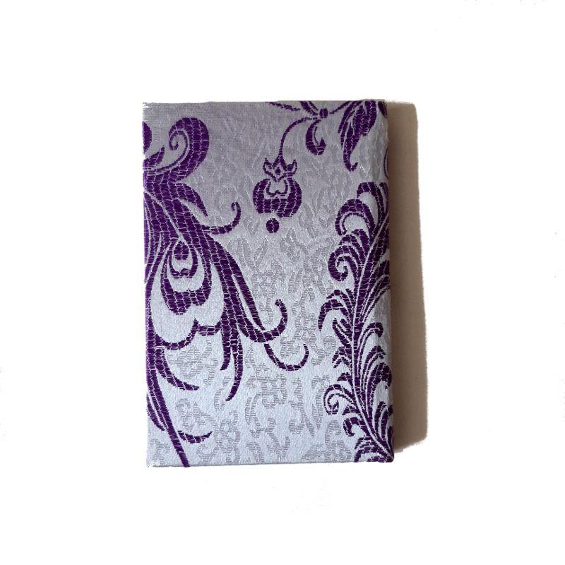 A5 purple silk notebook back