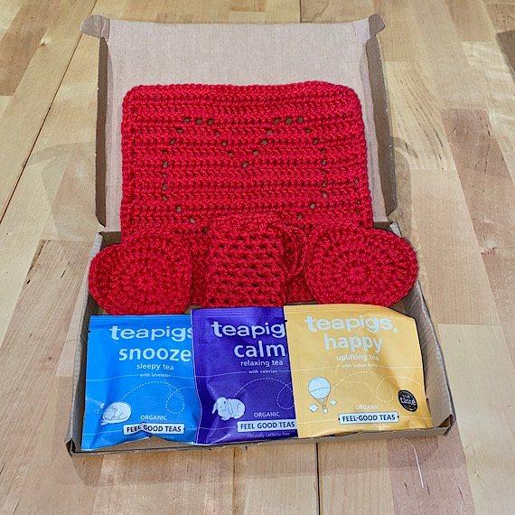 Heart Reusable Face Cloth, Wipes, Soap Bags + Teapigs