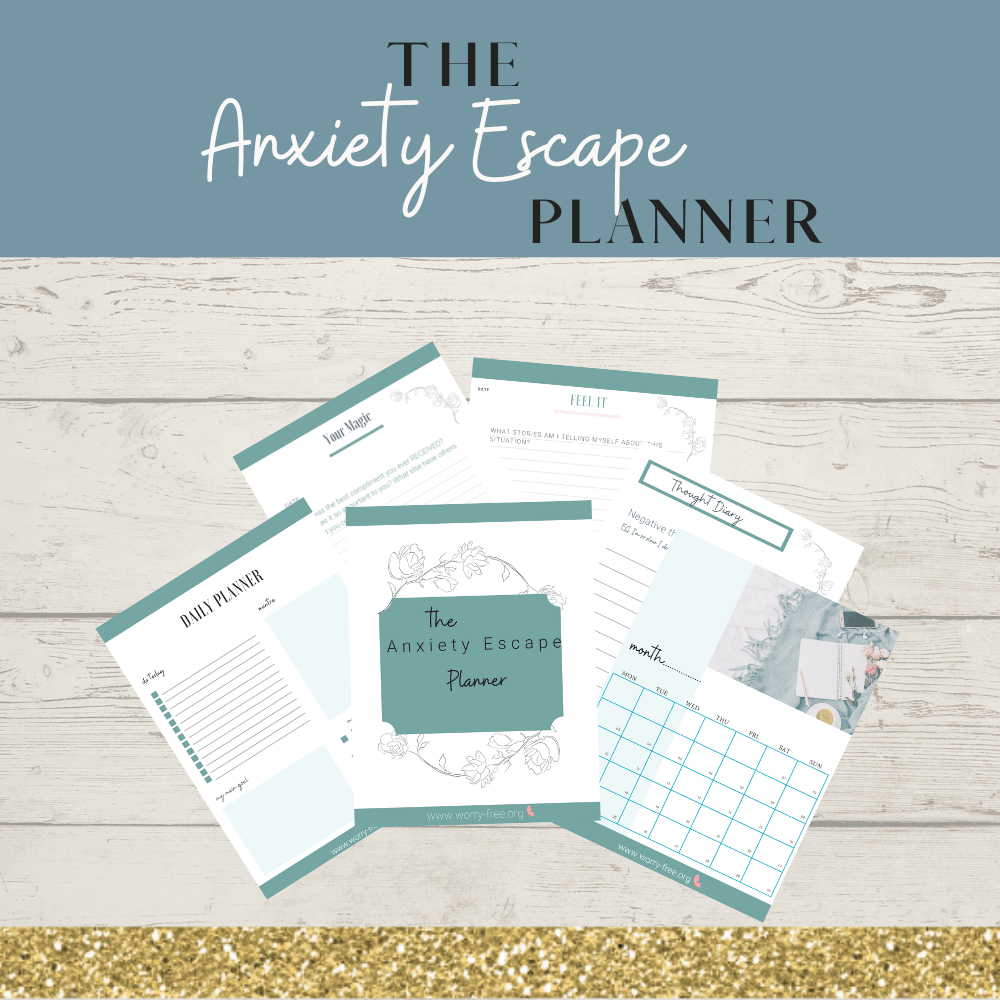Anxiety Escape Printable Planner & Hypnotherapy Audio Bundle Kind Shop 2