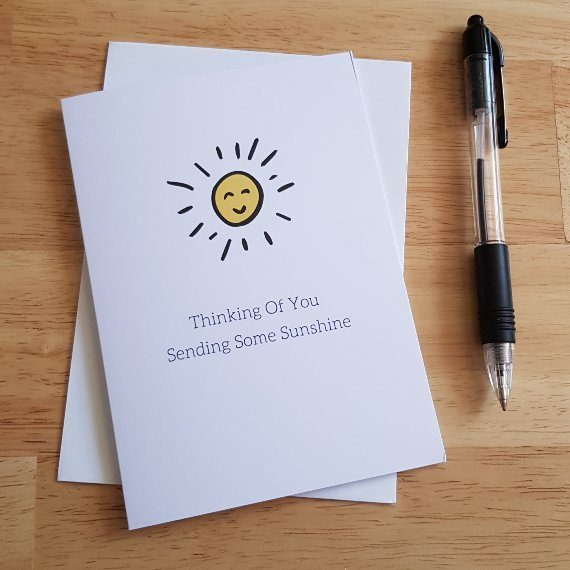 Cute Thinking of your card sunshine