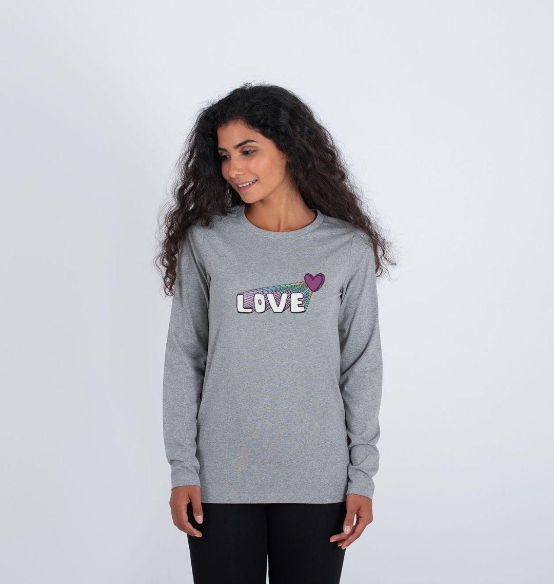 Women's Let Your Love Shine Longsleeve Top Kind Shop 5