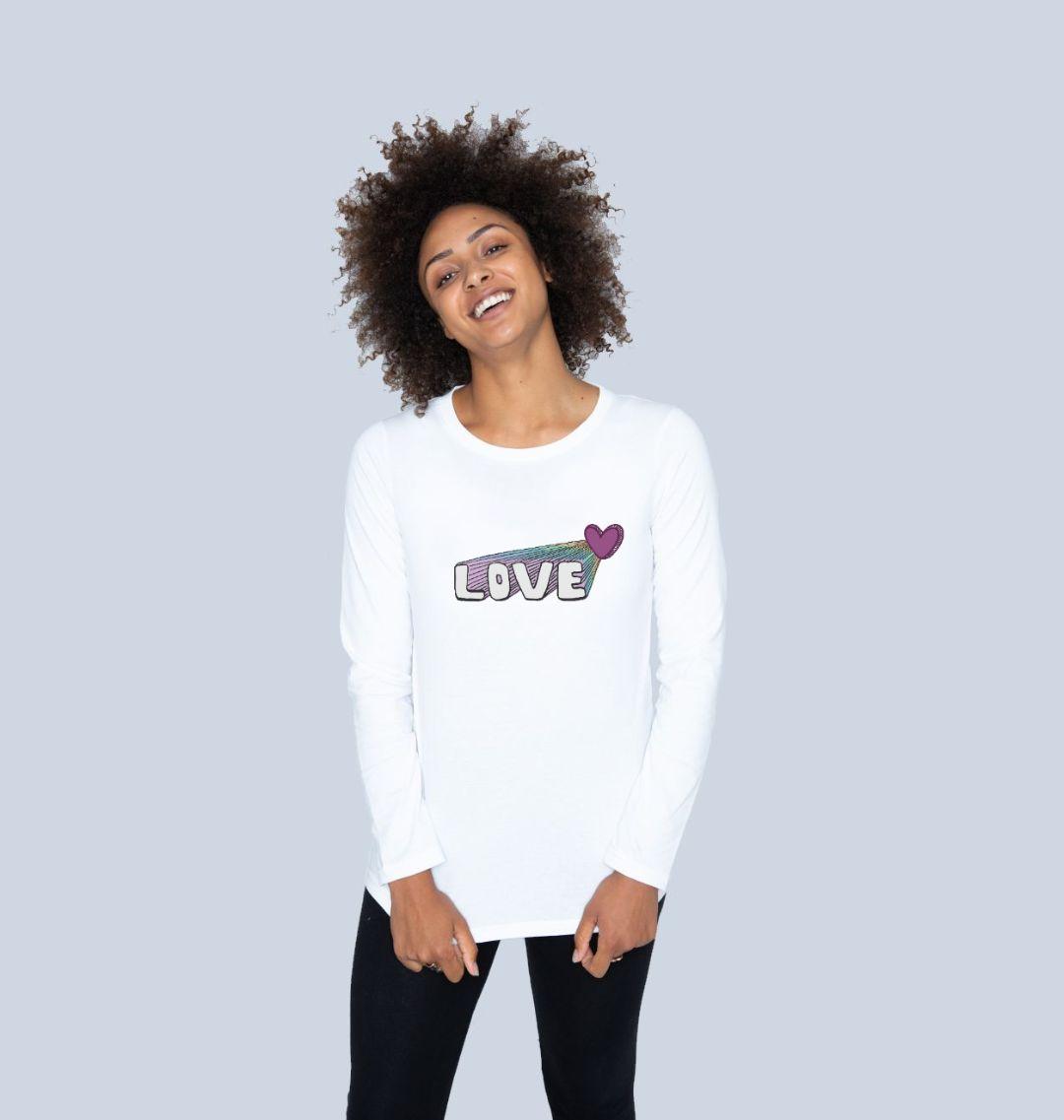 Women's Let Your Love Shine Longsleeve Top Kind Shop