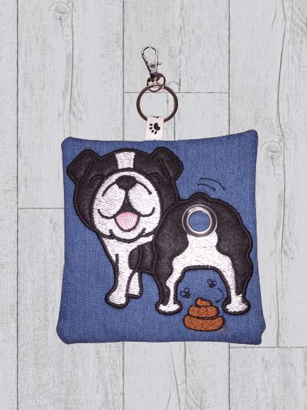 British Bulldog Eco Plastic Free Dog Poo Bag Holder – Black & White Kind Shop