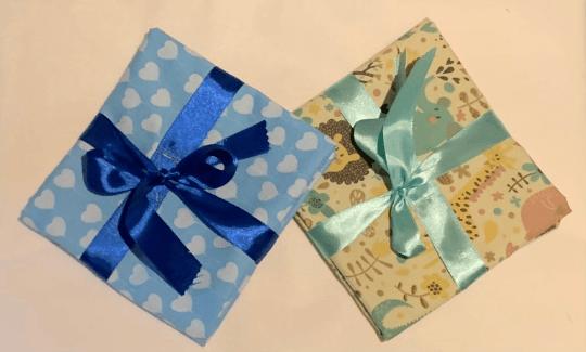 Hearts Reusable Fabric Gift Wrap