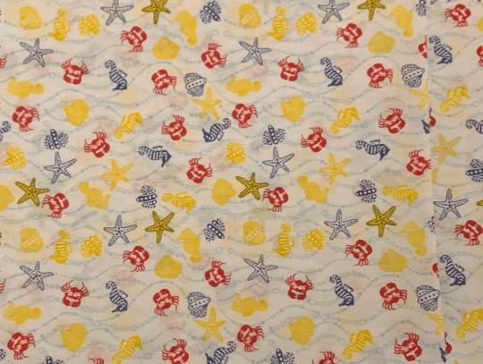 Children Kids Reusable Fabric Gift Wrap (Blue Crabs & Shells) Kind Shop 2