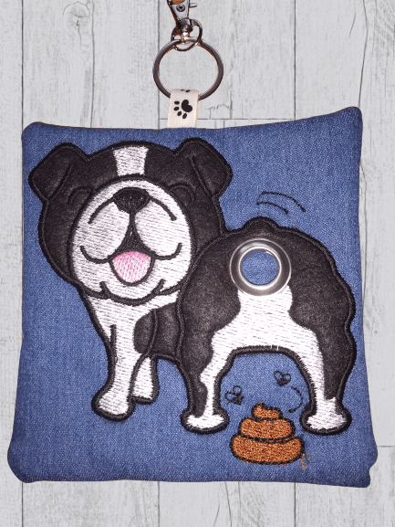 British Bulldog Eco Plastic Free Dog Poo Bag Holder – Black & White Kind Shop 3