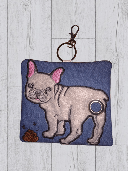 French Bulldog Eco Plastic Free Dog Poo Bag Holder – Light Grey Kind Shop