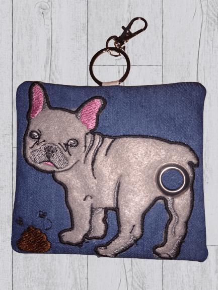 French Bulldog Eco Plastic Free Dog Poo Bag Holder – Light Grey Kind Shop 3