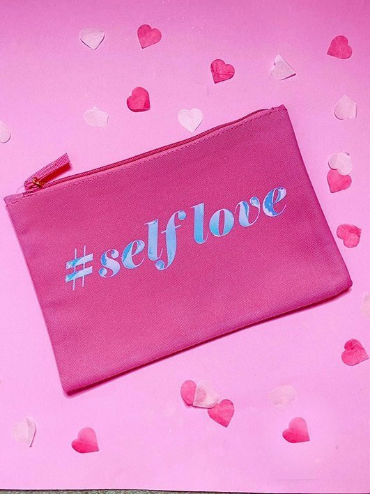 self love make up bag self care