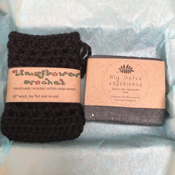 Soap saver bag and natural soap gift set Kind Shop 4