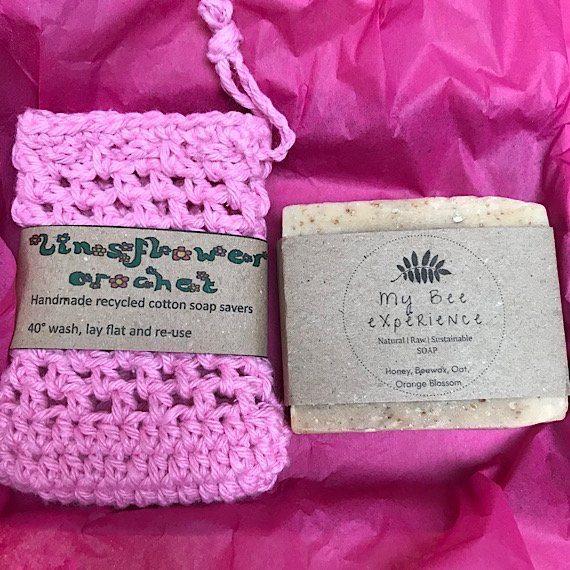 Soap saver bag and natural soap gift set Kind Shop 3