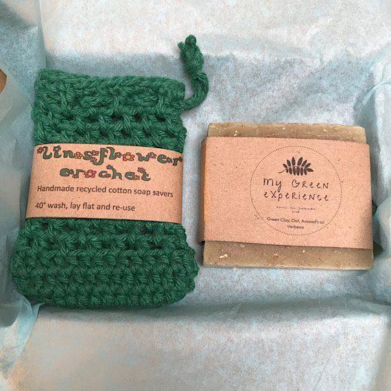 Soap saver bag and natural soap gift set Kind Shop 5