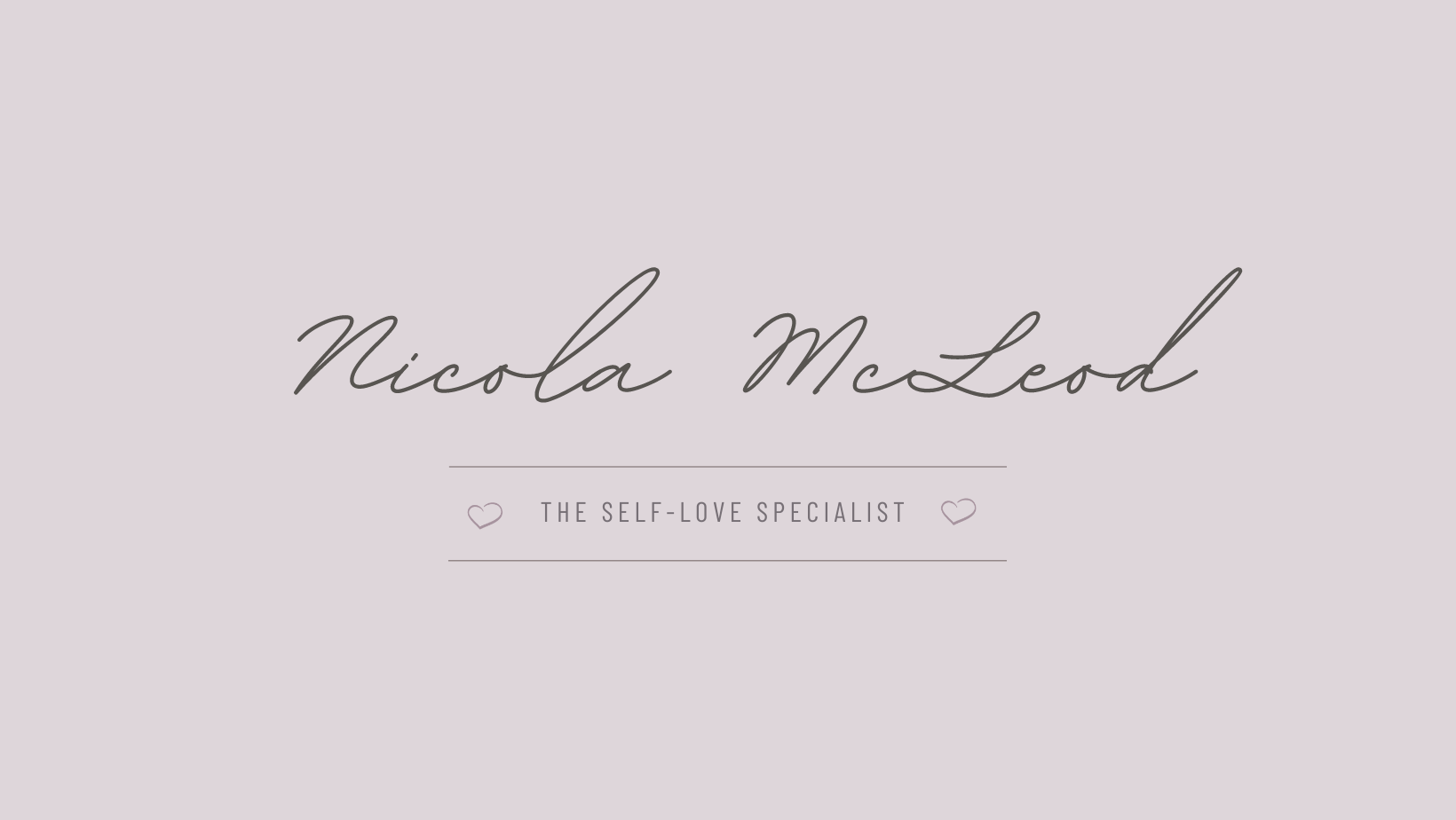 Holistic Therapy Session Nicola McLead Self Love Specialist