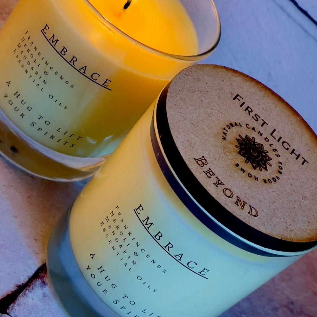 Vegan Soy Candle with Frankincense Neroli and Mandarin Essential Oils Kind Shop 2