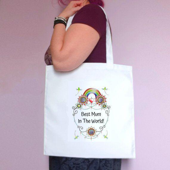 Personalised Mothers Day Tote Bag – Best Mum Stepmum Grandma In The World – Mum Gift Kind Shop