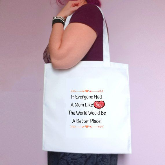 Personalised Mothers Day Eco Friendly Fold Flat Tote Bag – Mum Stepmum Granny like you Kind Shop