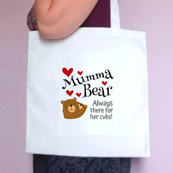 Mumma Bear Eco Friendly Fold Flat Reusable Tote Bag Mothers Day Gift Mum Gift Kind Shop 2
