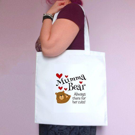 Mumma Bear Eco Friendly Fold Flat Reusable Tote Bag Mothers Day Gift Mum Gift Kind Shop