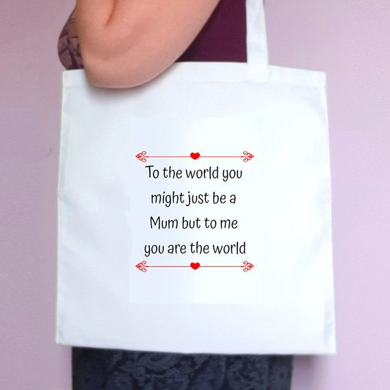 Personalised Sentimental Eco Friendly Fold Flat Tote Bag Mothers Day Gift Mum Gift Kind Shop 2
