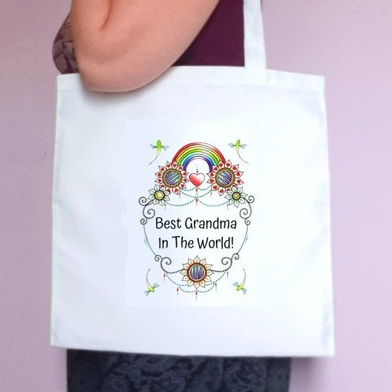 Personalised Mothers Day Tote Bag – Best Mum Stepmum Grandma In The World – Mum Gift Kind Shop 3
